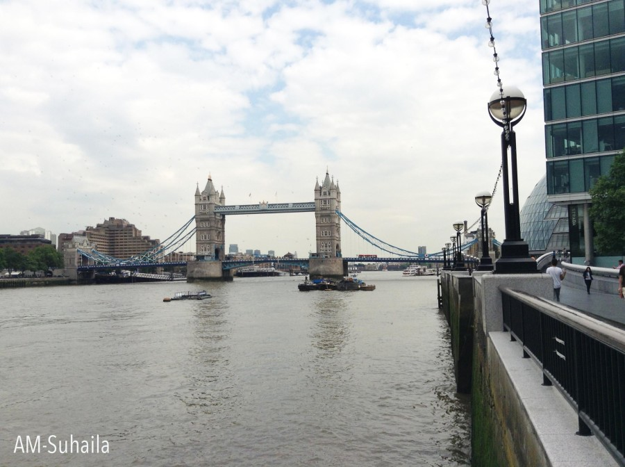 The Tower Bridge from a distance