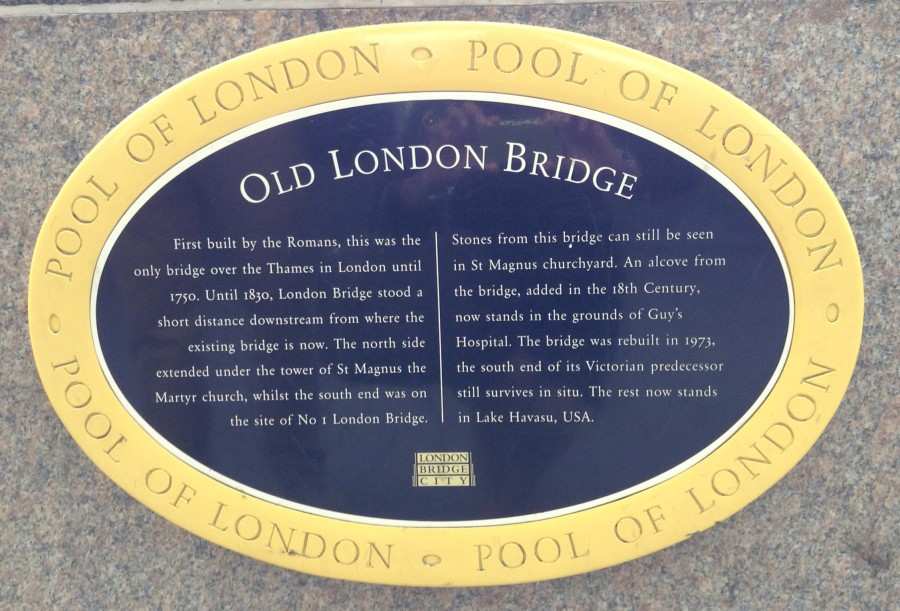 A little history on the Old London Bridge
