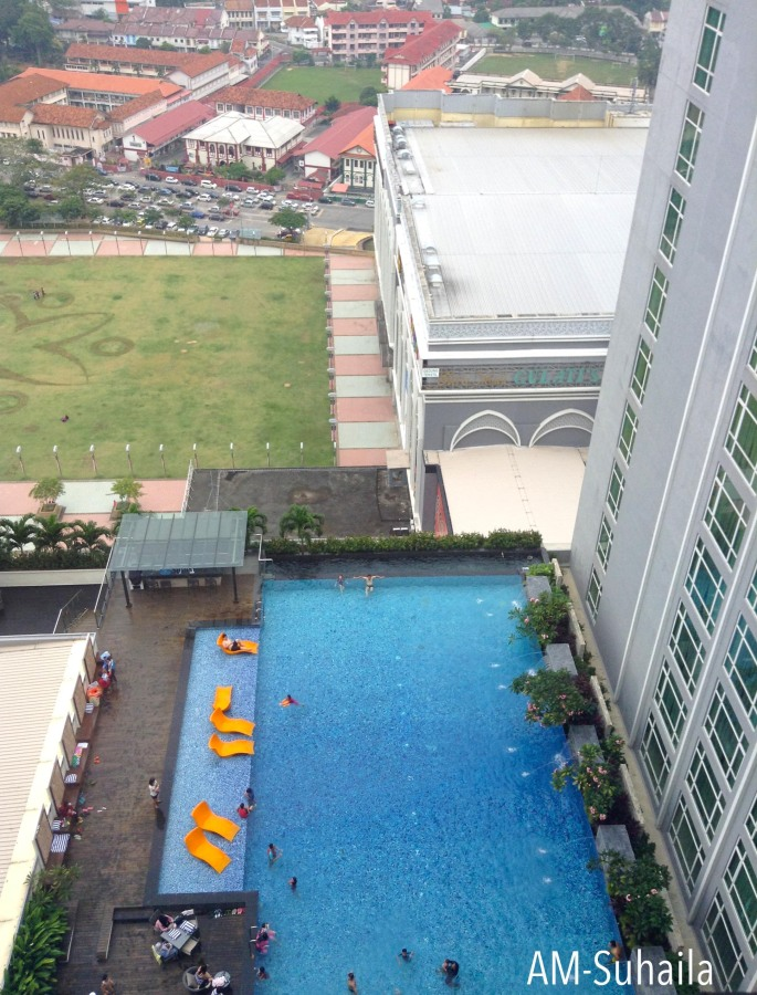 View of the pool from the top