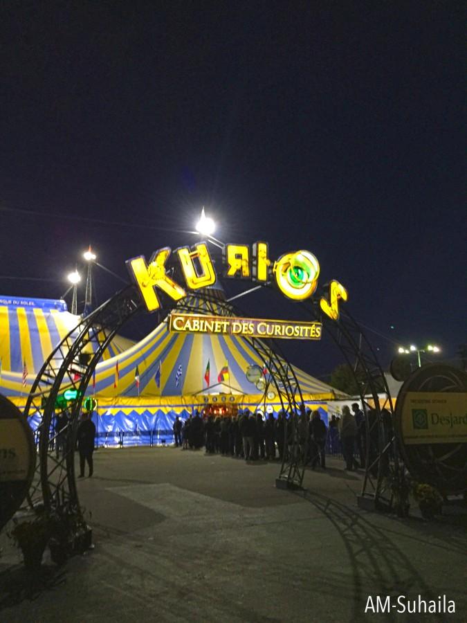 Kurios entrance
