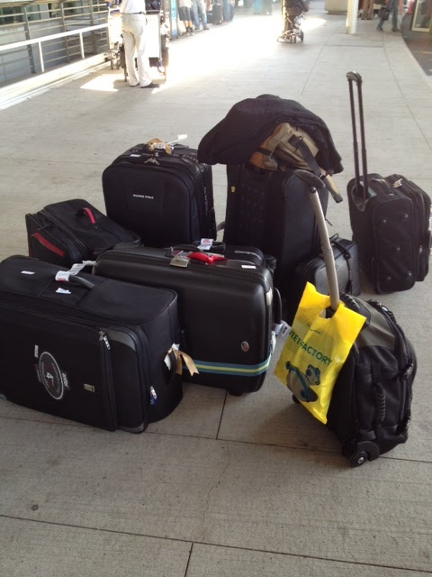 All our luggage upon arrival at Pearson International Airport