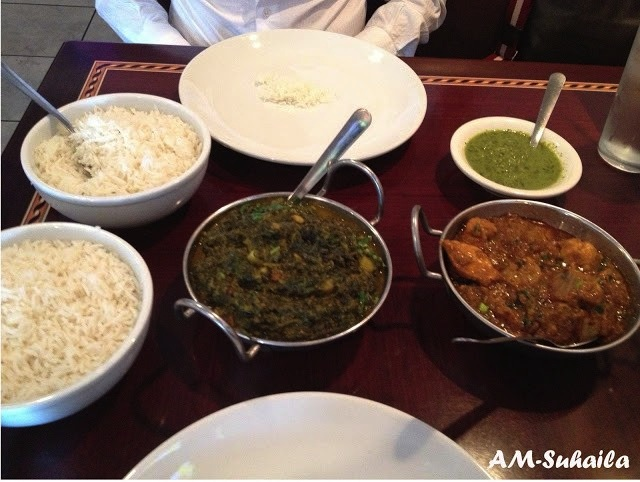 Our Halal Indian lunch, leaving the Mister a happy man!