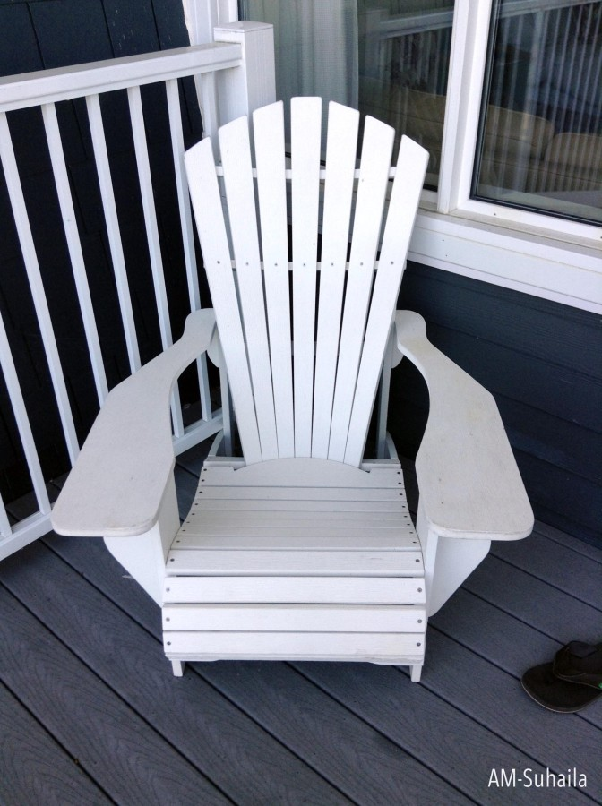 My favourited white Muskoka Chair in our private balcony :)