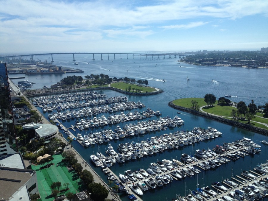 Beautiful view from our room at the Grand Hyatt!