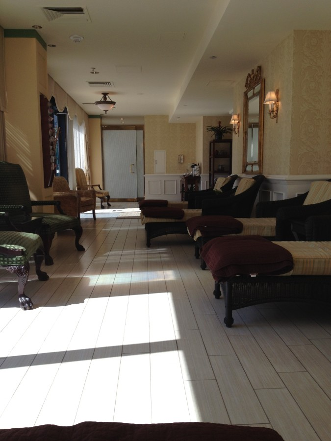 Relaxation area at Kin Spa