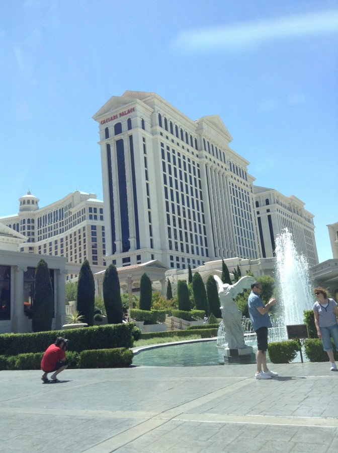 A view of the very huge Caesars Palace