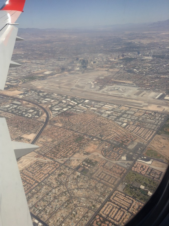 From the plane, as we were approaching Vegas