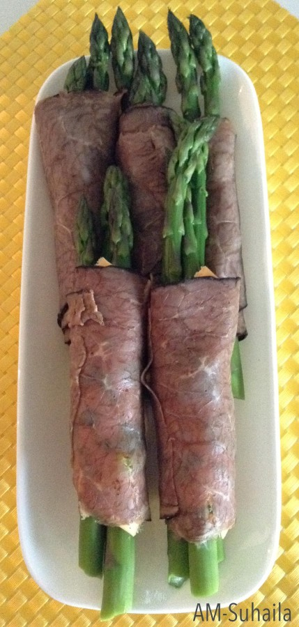 Quick and easy Asparagus Beef Rolls