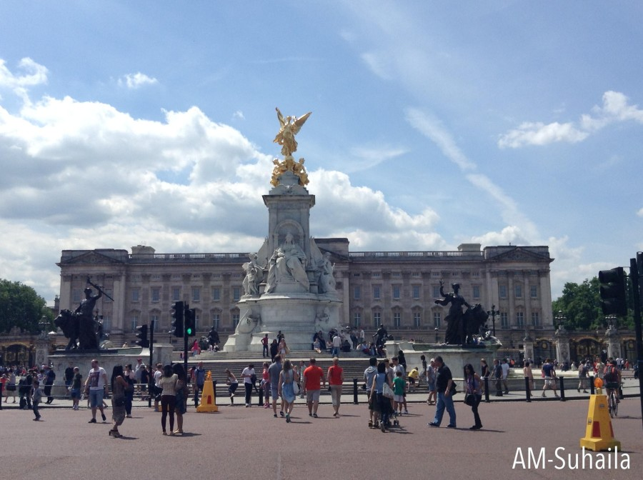 Buckingham Palace from afar
