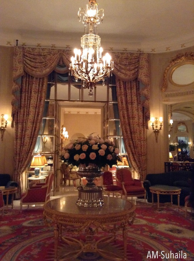 Lovely ambience at the Ritz