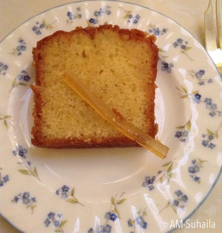 Lemon Drizzle Cake from the cake trolley