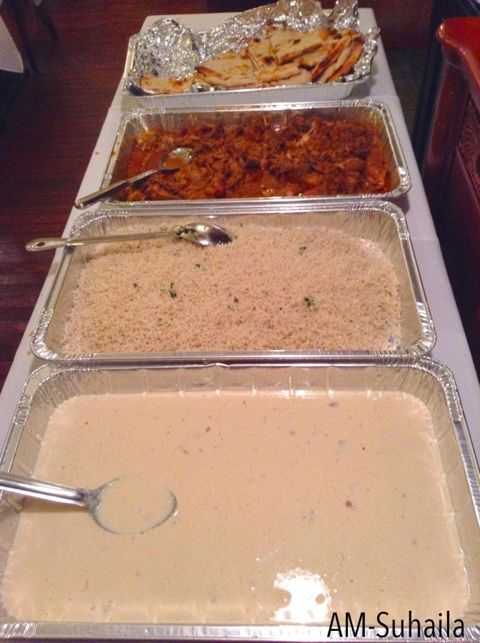 The array of Iftar Buffet Dinner, without the Chicken65 here.