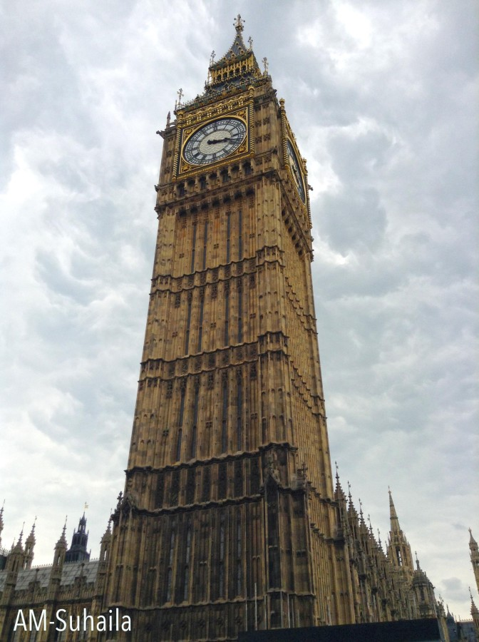 The Elizabeth Tower, more popularly known as the Big Ben
