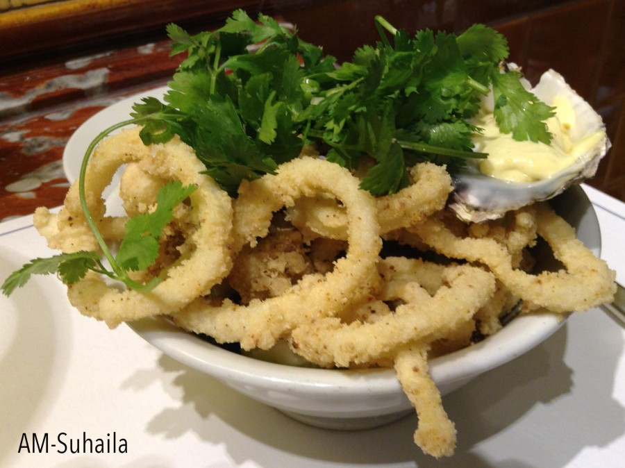 Salt and Pepper Squid at Harrods Sea Grill