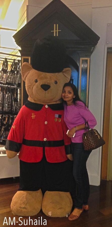 Me & the lovely Harrods Bear!