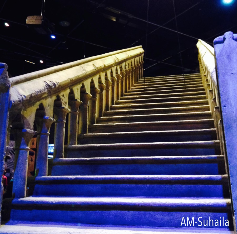 The famous marble staircase