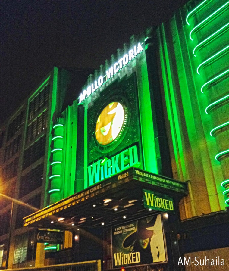 Wicked showing at West End's Apollo Victoria Theatre