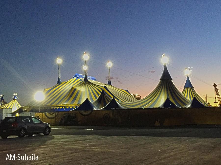 The Kurios show grounds at  Toronto, Portlands