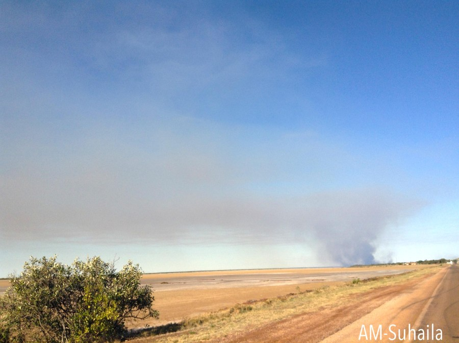 Spot the bushfire in the distance..