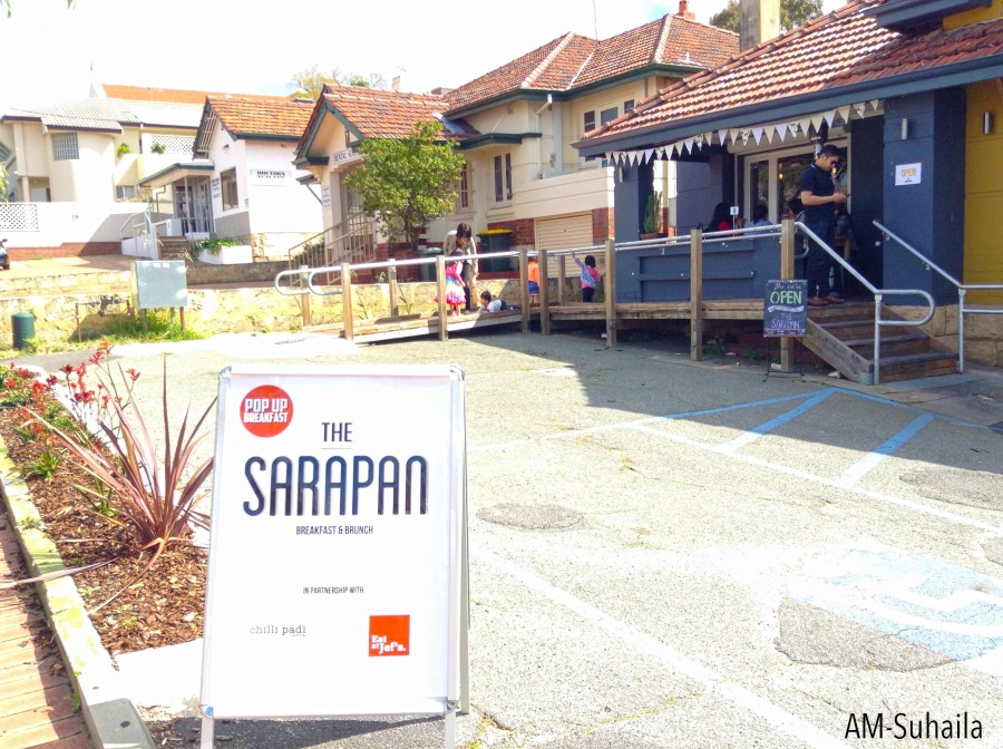 Upfront at the Sarapan pop-up shop