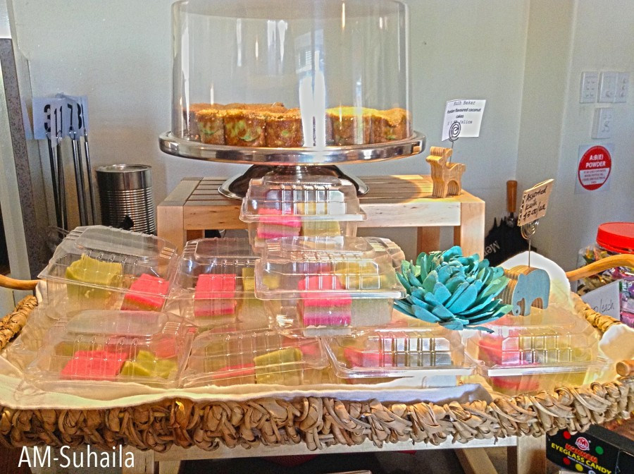 Pretty, colourful cakes and desserts at The Sarapan
