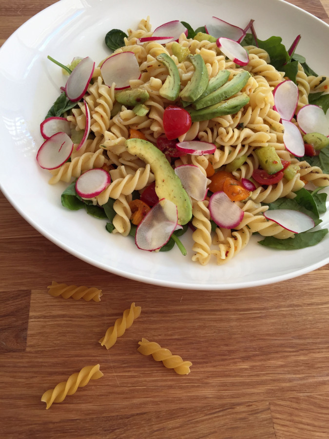 Fusilli Avocado Salad
