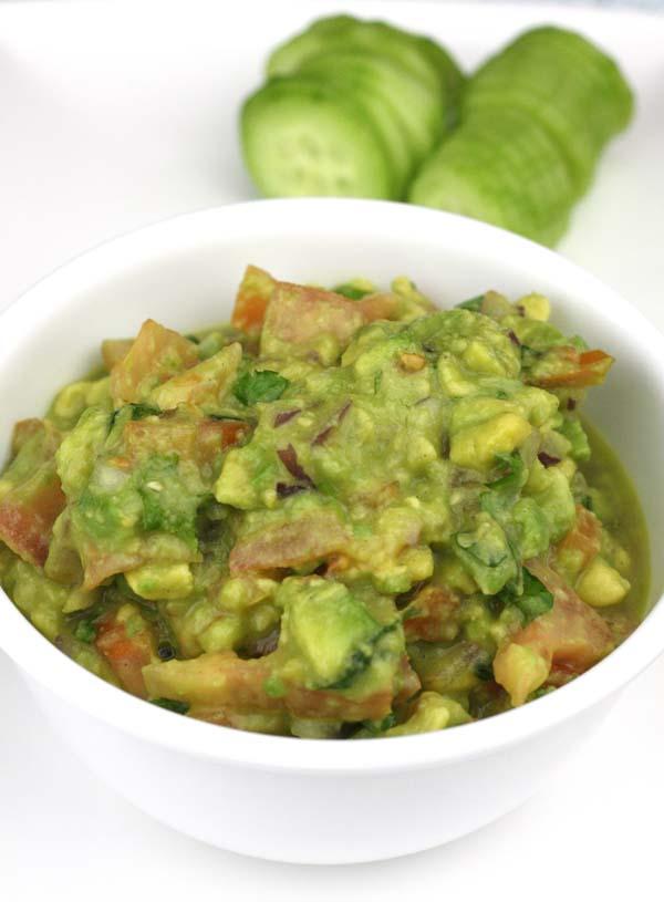 Mashed Avocado Guacamole