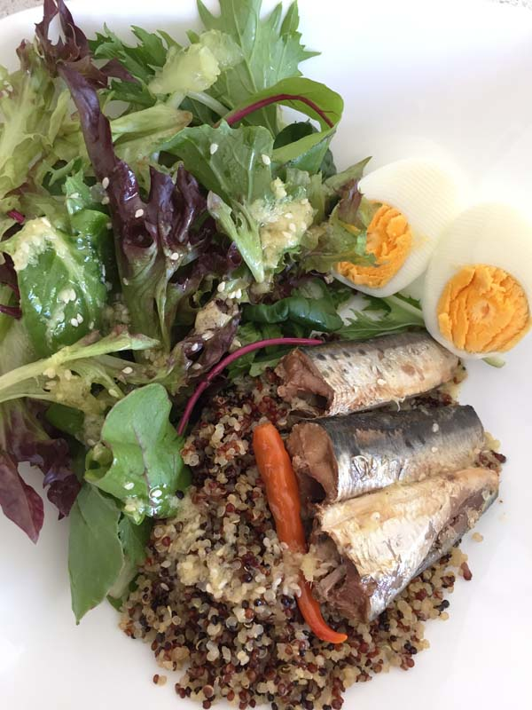 Easy Quinoa Salad with Sardines