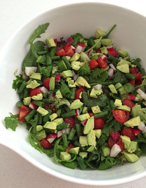 Rocket Medley Summer Salad with Beans and Red Radish