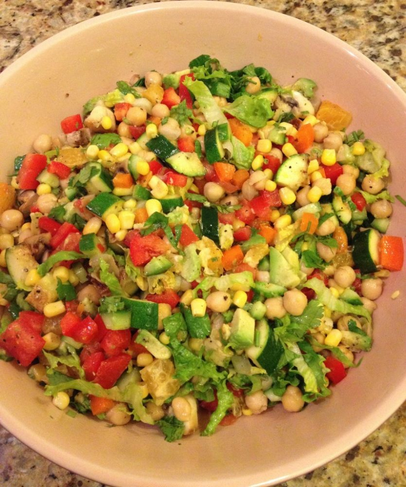 A Post Easter Meal Option – Chopped Salad Medley