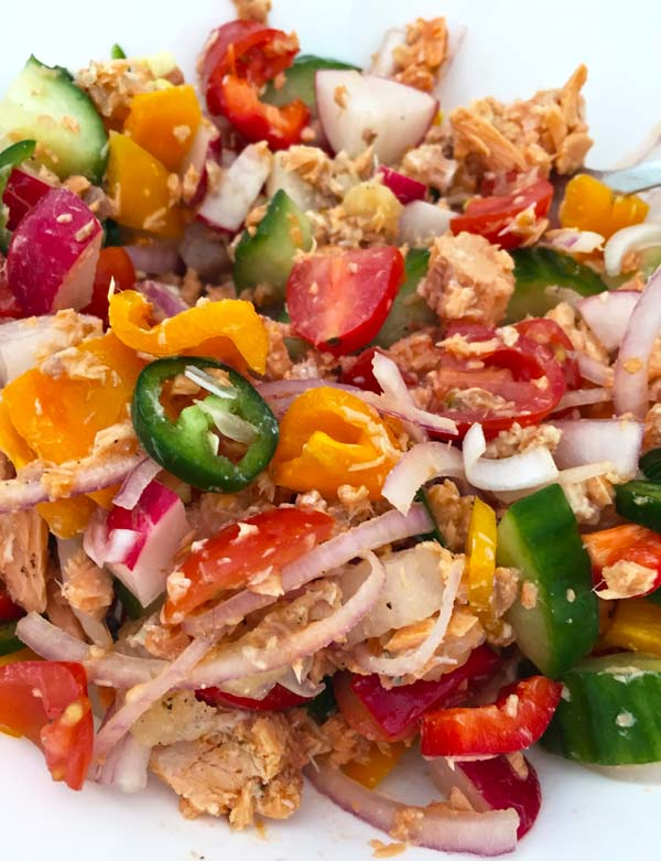 Rainbow Sardine Salad